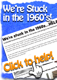 We're Stuck in the 1960's. Help Gloria Dei Lutheran Church to make needed repairs and upgrades to the brick church on the hill.